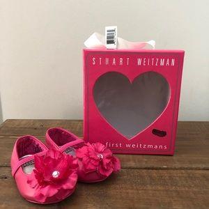 Stuart Weitzman Infant Baby Shoes Pink Flower 2
